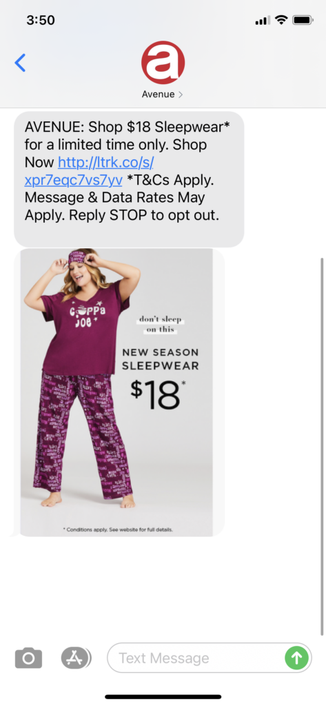 Avenue Text Message Marketing Example - 10.01.2020.png