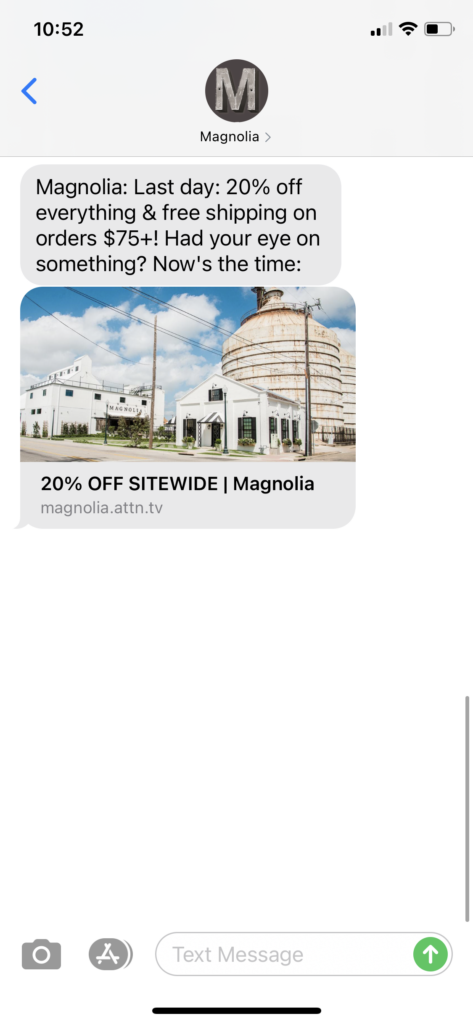 Magnolia Text Message Marketing Example - 11.30.2020.PNG