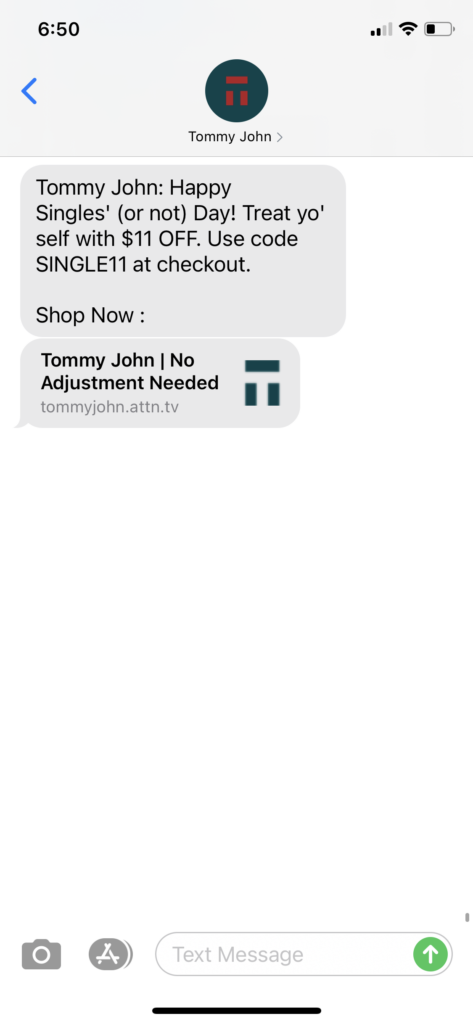 Tommy John Text Message Marketing Example - 11.11.2020.PNG