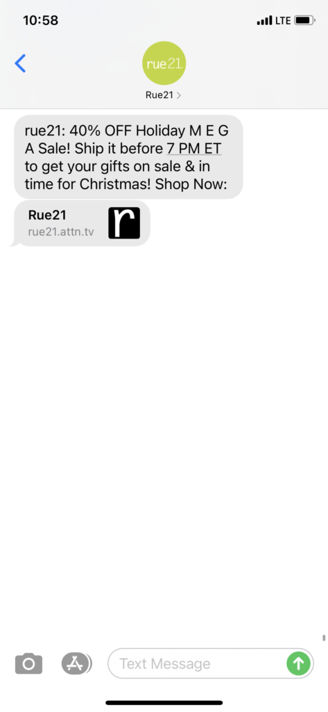 rue21 Text Message Marketing Example - 12.17.2020.PNG