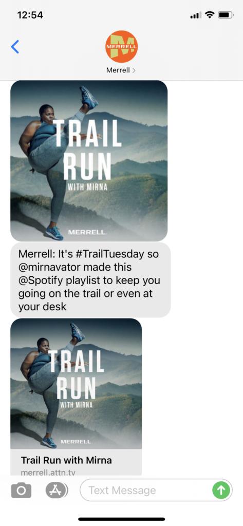 Merrell Text Message Marketing Example - 03.23.2021