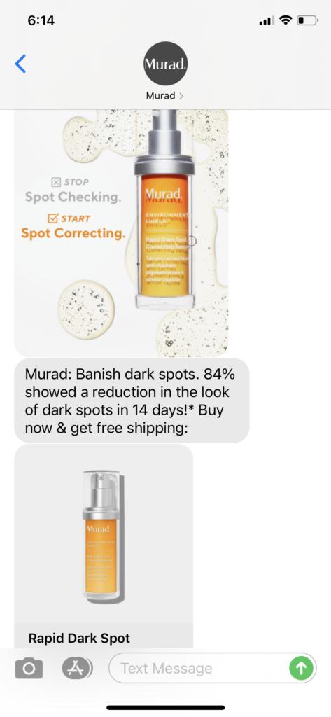 Murad Text Message Marketing Example - 04.23.2021