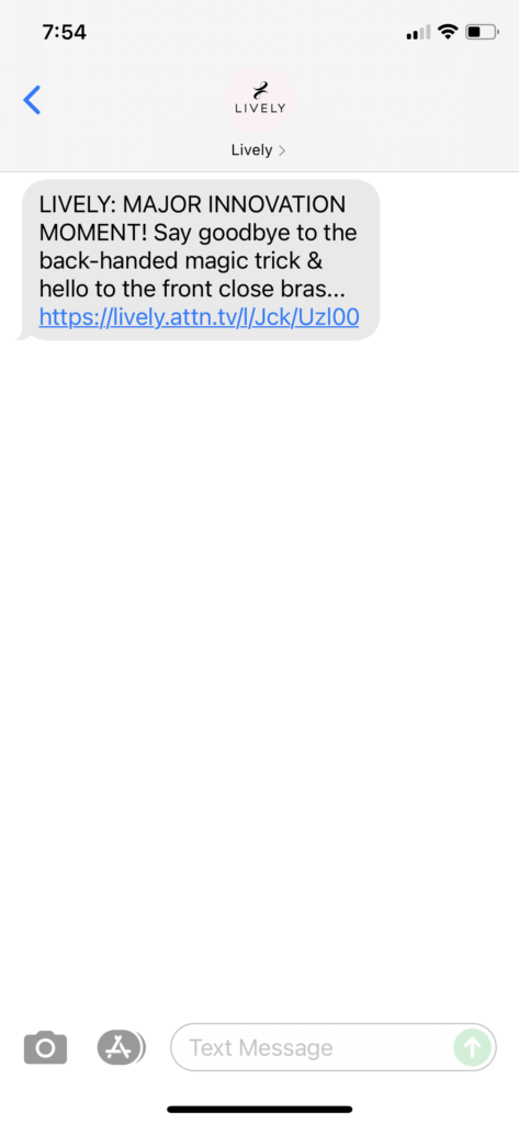 Lively Text Message Marketing Example - 09.22.2021